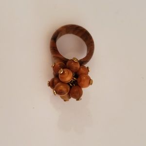 Jewelry - Wood dangle ring